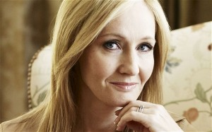 JK Rowling, author of the Harry Potter series, reminded students that it is OK to fail sometimes. Image: Andrew Montgomery