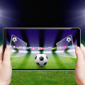 Soccer game played on a tablet