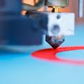 Close up of a 3D printer