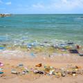 Pollution on a beach