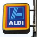 Aldi sign on side of building