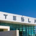 Tesla dealer storefront